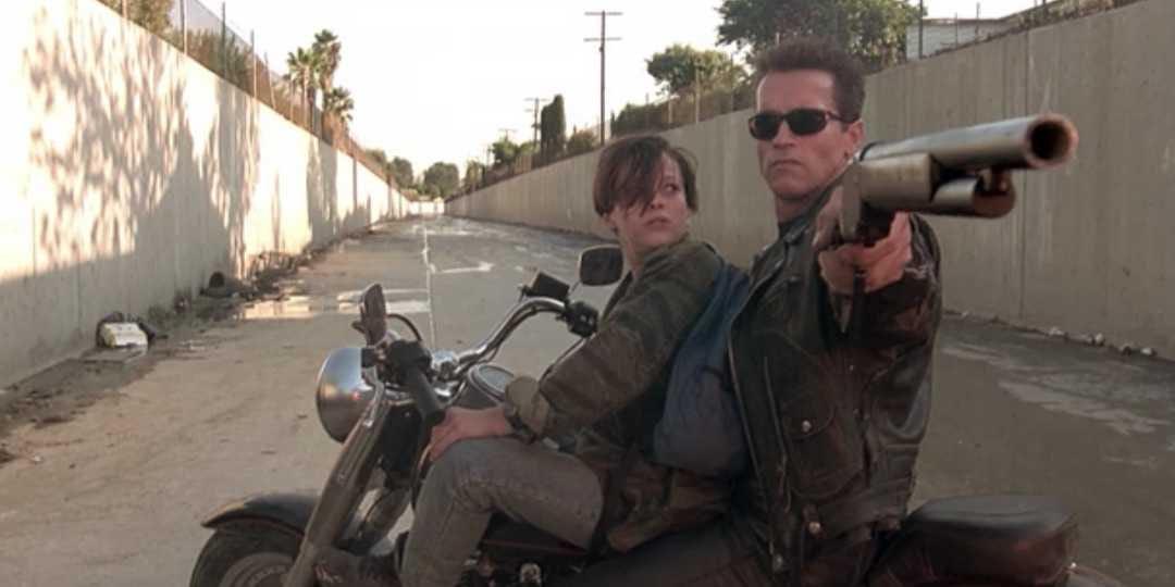 Image for Wie Motorrijder het afgelopen jaar heeft gelezen, weet dat één welbepaalde motor z'n faam (minstens gedeeltelijk) te danken heeft aan Terminator 2: Judgment Day. Op welke dikke cruiser parkeerde Arnold 'T-800' Schwarzenegger zijn stalen billen in die prent?
